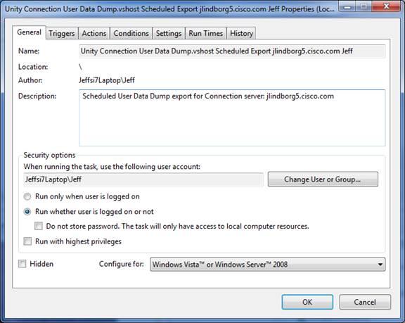 Cisco User Data Dump