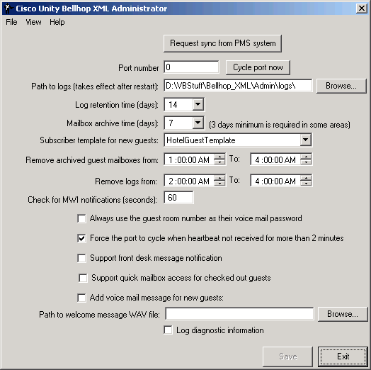 Unity Bellhop Administrator – Guest Register Template